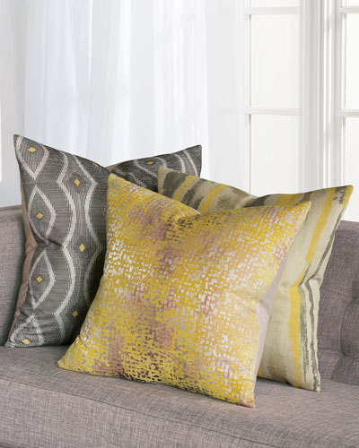 Echo Ochre Decorative Pillow