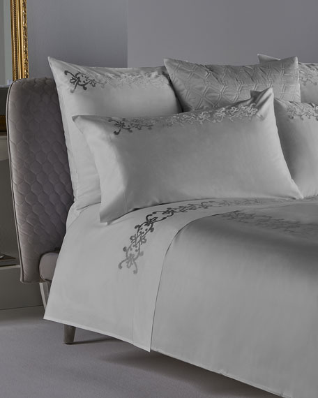 Frette at Home Antico Embroidery Queen Duvet Cover