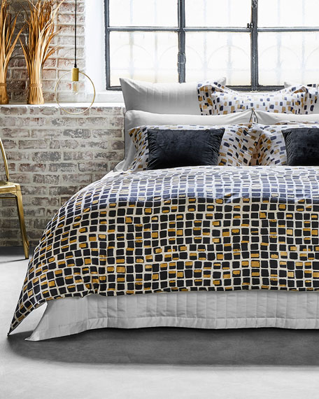 Frette at Home Mosaic Queen Duvet
