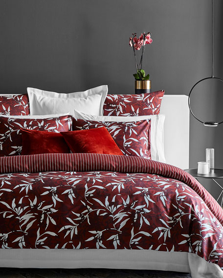 Chinoiserie Bordeaux Queen Duvet Cover