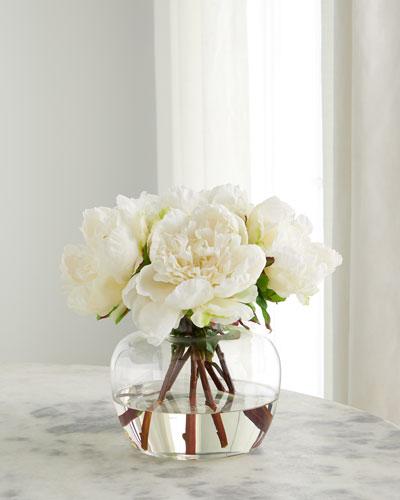 White Peonies Floral Arrangement