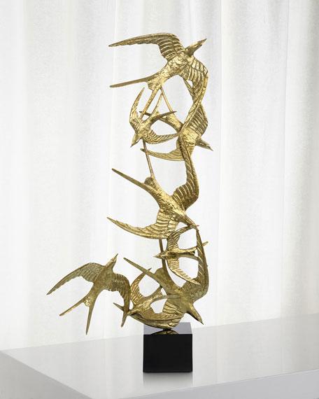 John-Richard Collection Swallows In Flight Sculpture