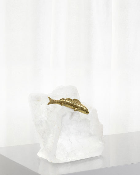 John-Richard Collection Leaping Through Icy Stream Decorative
