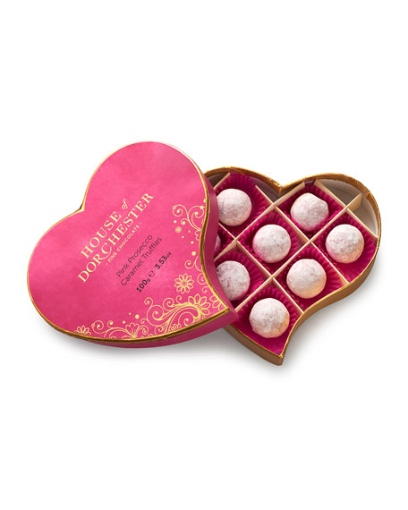 8-Piece Pink Prosecco Heart Box