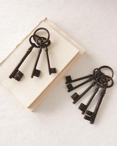 Cast Brass Decorative Keys  Set of 5