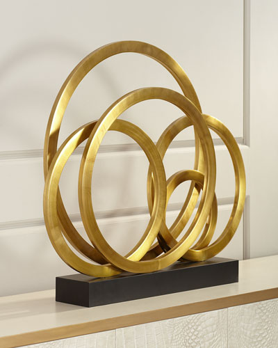 Brass Rings Sculpture