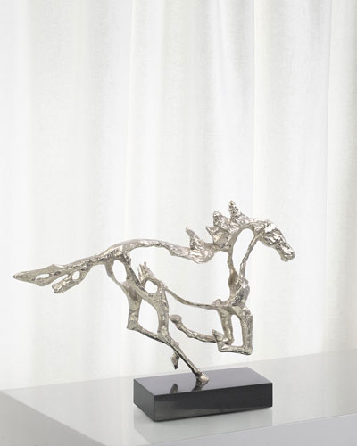Galloping Stallion Sculpture