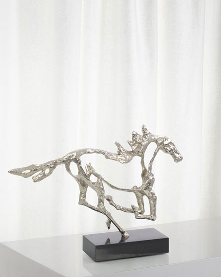 John-Richard Collection Galloping Stallion Sculpture