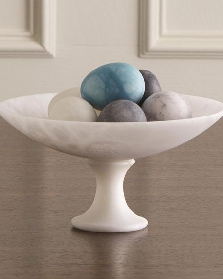 Assorted Alabaster Eggs, Set of 6