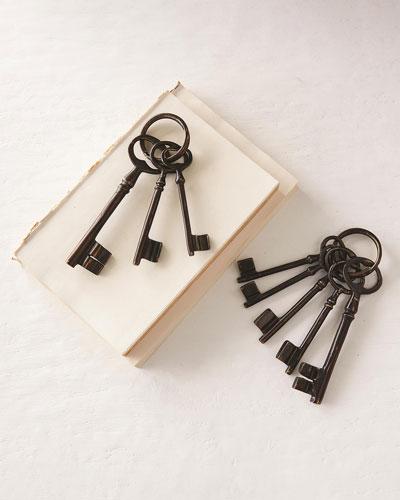Cast Brass Decorative Keys  Set of 3