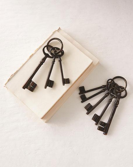 Cast Brass Decorative Keys, Set of 3