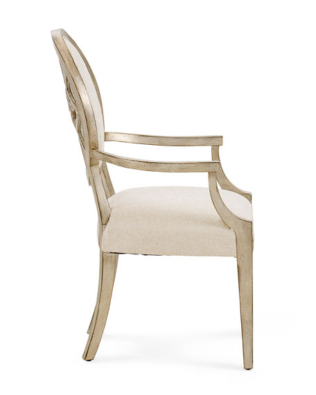 Romantique Oval Arm Chairs, Set of 2