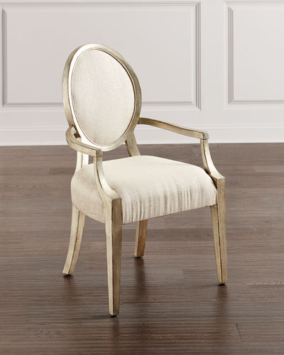 Romantique Oval Arm Chairs  Set of 2