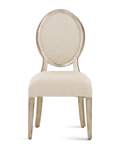 Romantique Oval Side Chairs, Set of 2