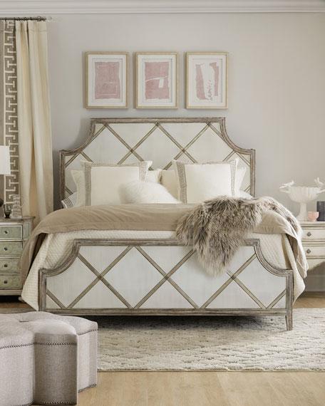 Diamont Queen Panel Bed