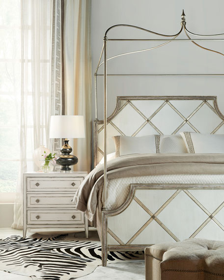 Diamont California King Canopy Panel Bed