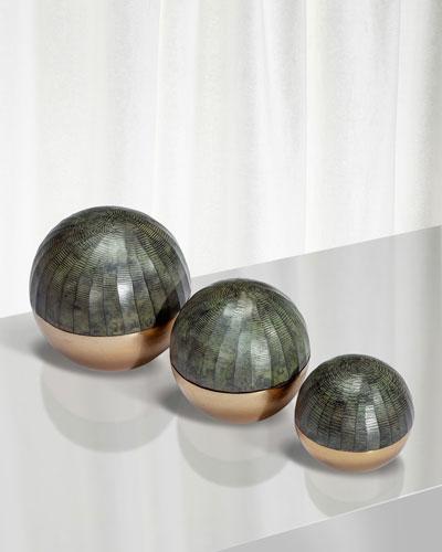 Faye Sphere Sculptures  Set of 3