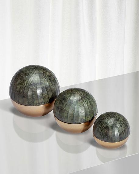 Faye Sphere Sculptures, Set of 3