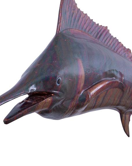 Blue Marlin Fish Wall Sculpture