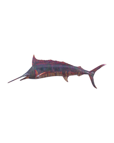 Blue Marlin Fish Wall Sculpture