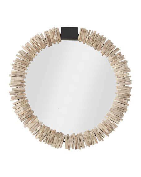 Small Stacked Ring Mirror