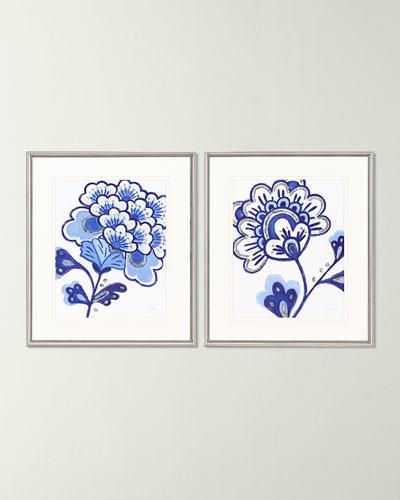 Blue Blossom II Giclee Set