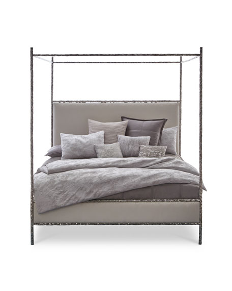Odette Upholstered Canopy King Bed