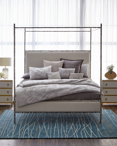Odette Upholstered Canopy King Bed