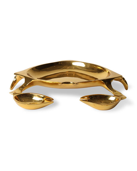 Jonathan Adler Brass Crab Bowl