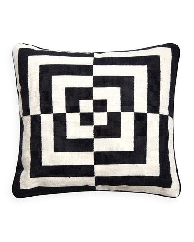Op Art Square Pillow