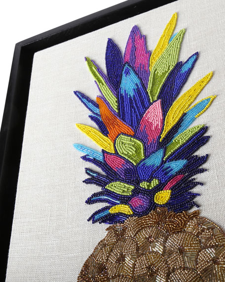 Pineapple Beaded Wall Art