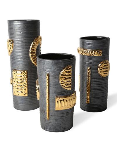 Osaka Gold Luster Cylinder Vase - Medium