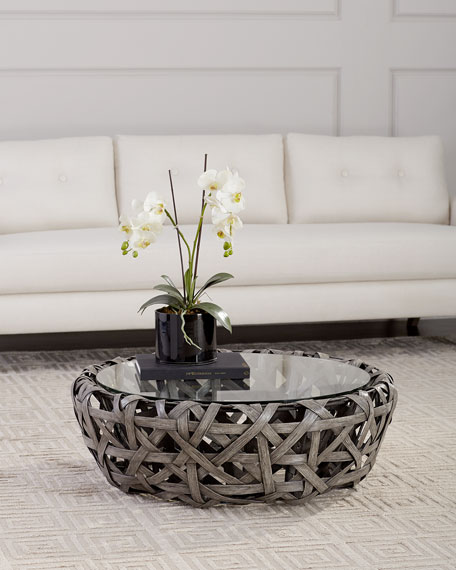 Carleton Rattan Coffee Table