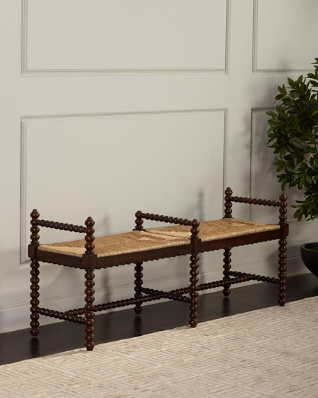 Routh Double Seat Rattan Bench