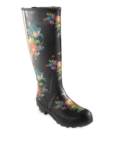 Flower Market Garden/Rain Boots  Size 7