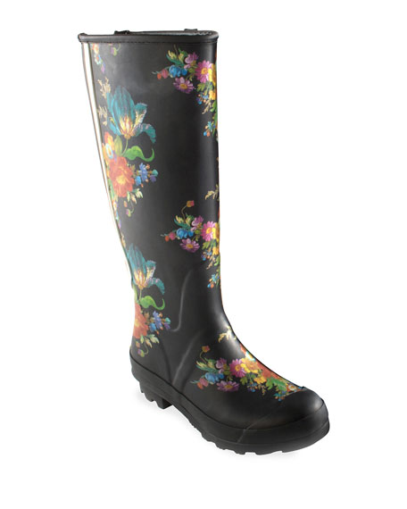 Flower Market Garden/Rain Boots, Size 10