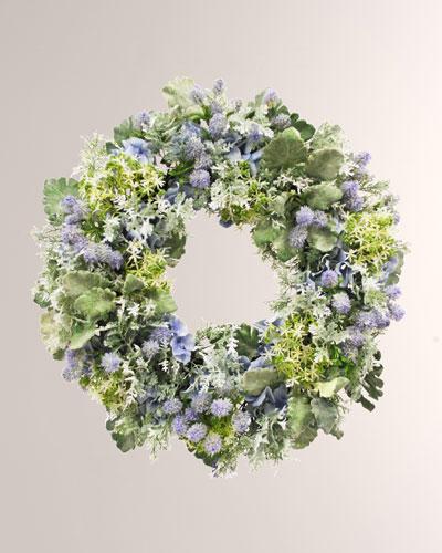 Hydrangea Thistle Wreath