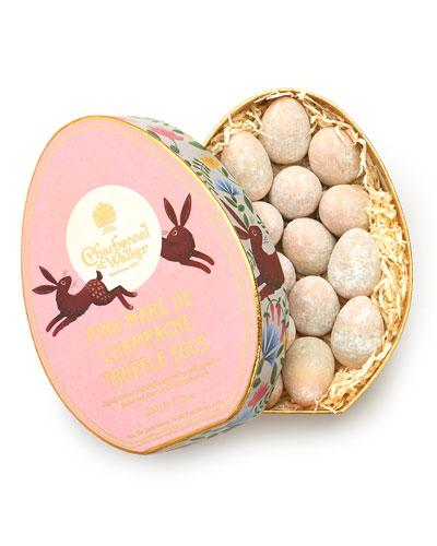 Pink Marc de Champagne Truffle Eggs