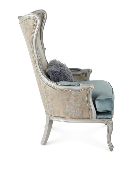 Livinia Leather Wing Chair