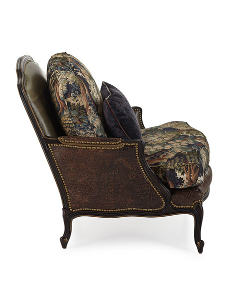 Talisheek Leather Bergere Chair