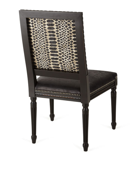 Maurepas Leather Dining Side Chair