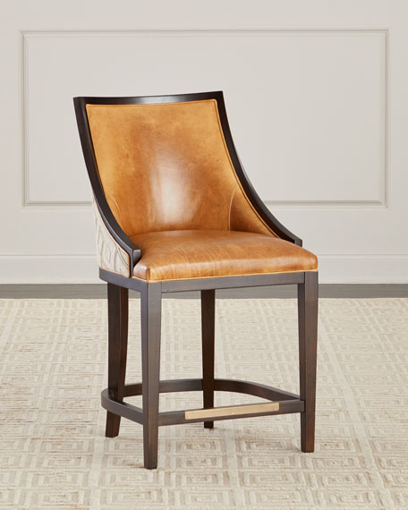 Chatawa Leather Bar Stool