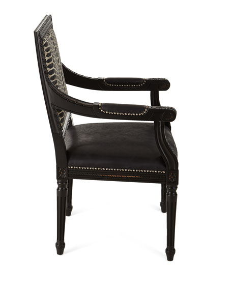 Maurepas Leather Dining Arm Chair