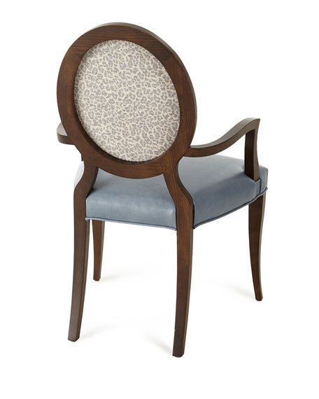 Pearlington Leather Dining Arm Chair