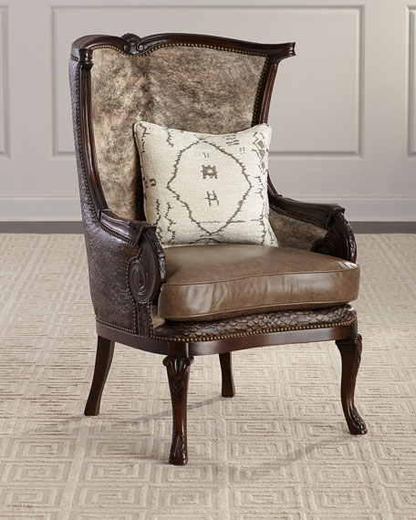Picayune Leather Wing Chair