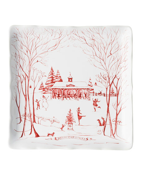 Juliska Country Estate Winter Frolic Ruby Sweets Tray