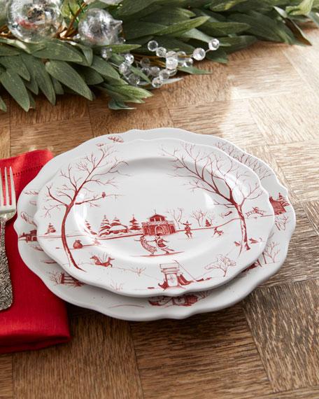 Country Estate Winter Frolic Dessert/Salad Plate