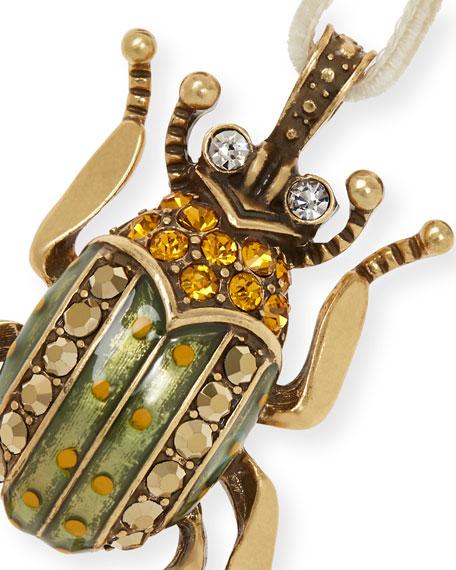 Enamel Beetle Hanging Ornament