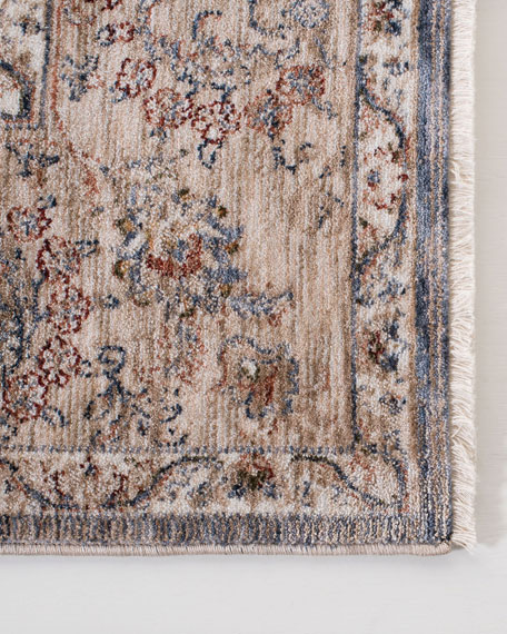 Celia Gray/Ivory Power-Loomed Rug, 5' x 8'