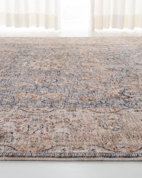 Celia Gray/Ivory Power-Loomed Rug, 6' x 9'